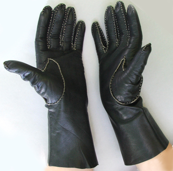 Black Leather Fingerless Gloves - 3 for $9.99