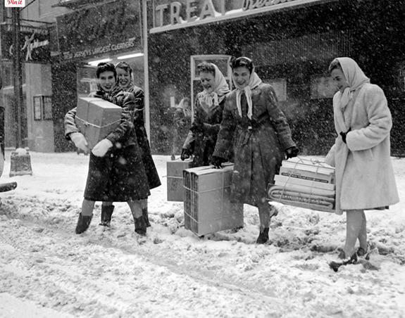 Shopping In Snow