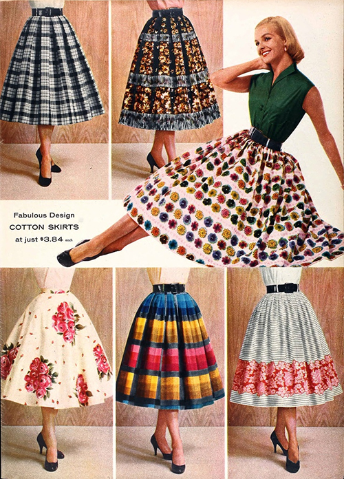 Colorful-Print-Skirts-Vintage