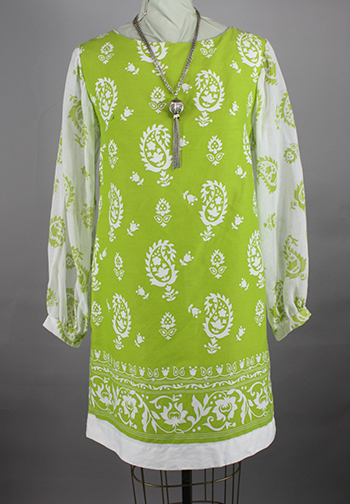 Lime-Vintage-60s-Shift-Dress